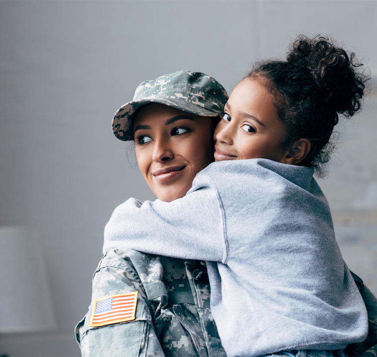 military mom and daughter